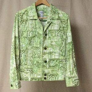 Chico's multi color jacket size 2